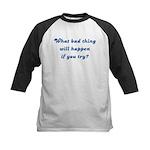 What Bad Thing v2 Kids Baseball Jersey
