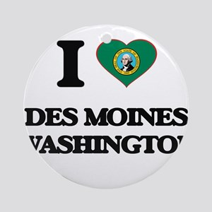 I love Des Moines Washington Ornament (Round)