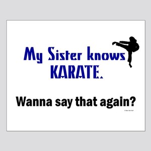 My Sister Knows Karate Small Poster