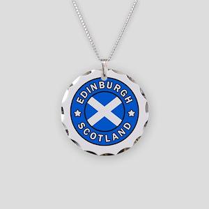 Edinburgh Necklace Circle Charm