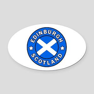 Edinburgh Oval Car Magnet