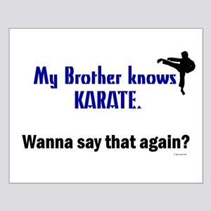 My Brother Knows Karate Small Poster