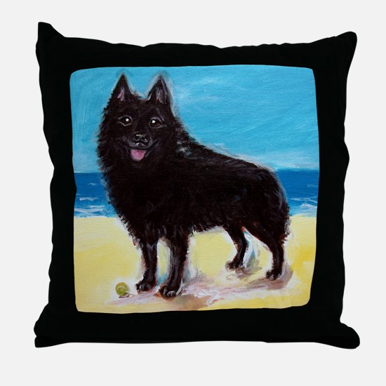 Unique Schipperke Throw Pillow