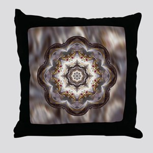 Jewel Accent Mandala Throw Pillow