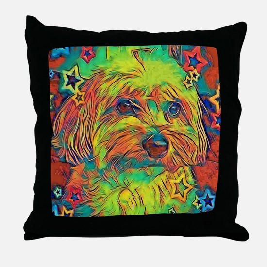 Copper with stars Throw Pillow