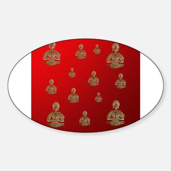buddha in red Decal