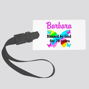 GOD LOVING 70TH Large Luggage Tag