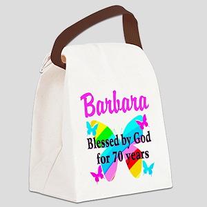 GOD LOVING 70TH Canvas Lunch Bag