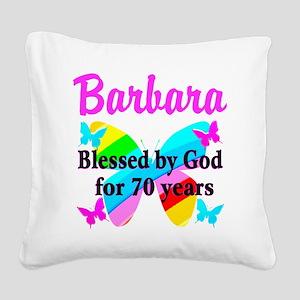 GOD LOVING 70TH Square Canvas Pillow