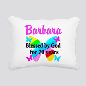 GOD LOVING 70TH Rectangular Canvas Pillow