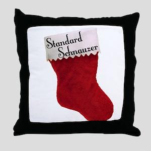 Std. Schnauzer Stocking Throw Pillow