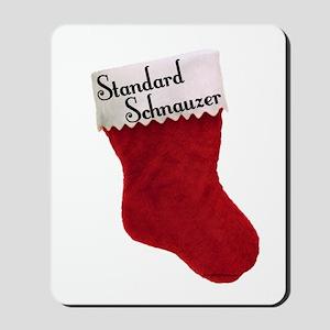 Std. Schnauzer Stocking Mousepad