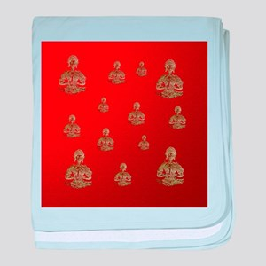 buddha in red baby blanket