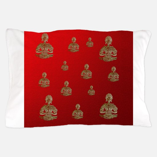 buddha in red Pillow Case