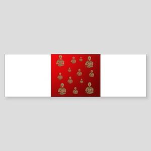 buddha in red Bumper Sticker
