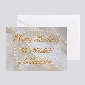 Birthday Card For Goddaughter With Pearls Greeting