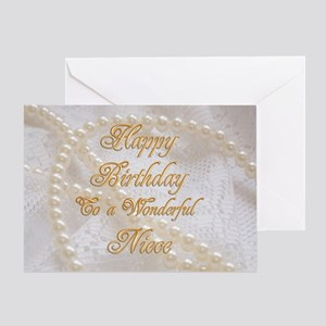 Birthday Card For Niece With Pearls Greeting Cards