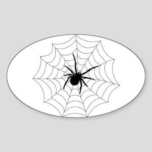 Spider Web Oval Sticker