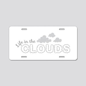 Life in the clouds Aluminum License Plate