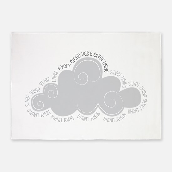 Every cloud has a silver lining 5'x7'Area Rug