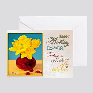 Golden Daffodils Birthday Card For Ex Wife Greetin