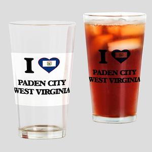 I love Paden City West Virginia Drinking Glass