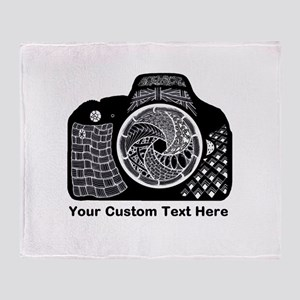 Customized Camera Original Art Throw Blanket