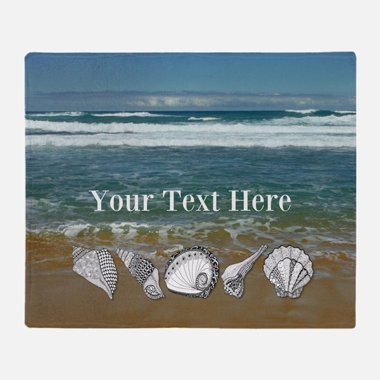 Customized Original Seashell Beach Art Throw Blank