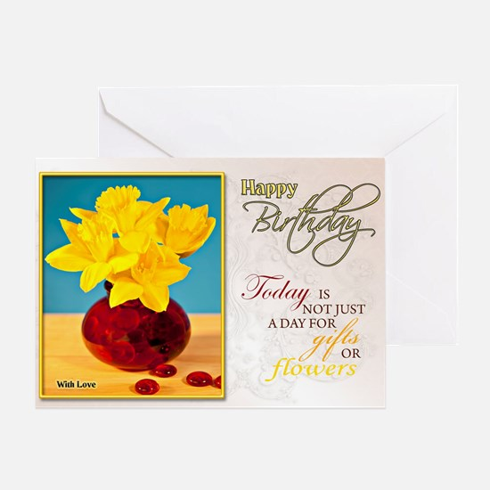 Golden daffodils birthday card Greeting Cards
