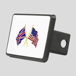 GREAT BRITAIN AND AMERICAN FLAGS Hitch Cover