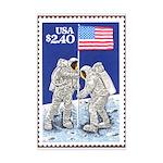 Appolo 11 Space Astronomy Gift Mini Poster Print