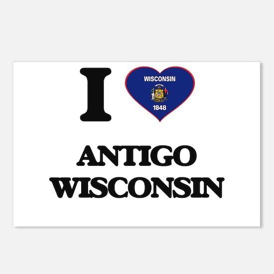 I love Antigo Wisconsin Postcards (Package of 8)