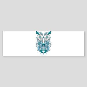 Blue dreamcatcher owl Bumper Sticker