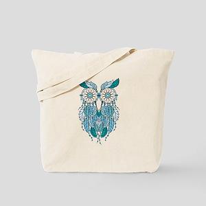 Blue dreamcatcher owl Tote Bag