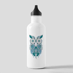 Blue dreamcatcher owl Water Bottle