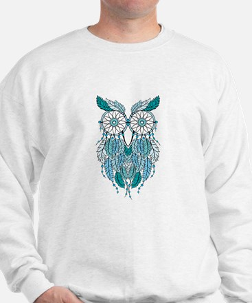 Blue dreamcatcher owl Jumper