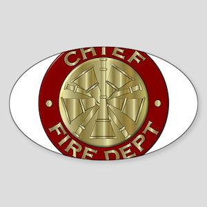 Fire chief brass sybol Sticker