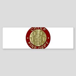 Fire chief brass sybol Bumper Sticker