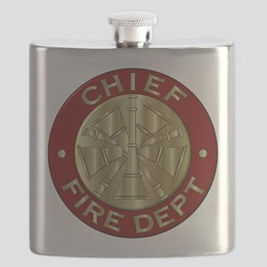 Fire chief brass sybol Flask