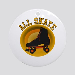 Scott Designs All Skate Ornament (Round)