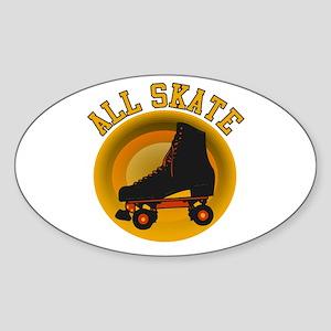 Scott Designs All Skate Oval Sticker