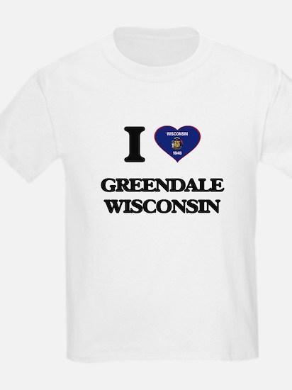 I love Greendale Wisconsin T-Shirt