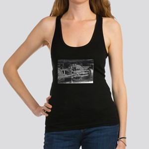 Old train black and white Racerback Tank Top