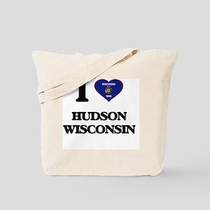 I love Hudson Wisconsin Tote Bag