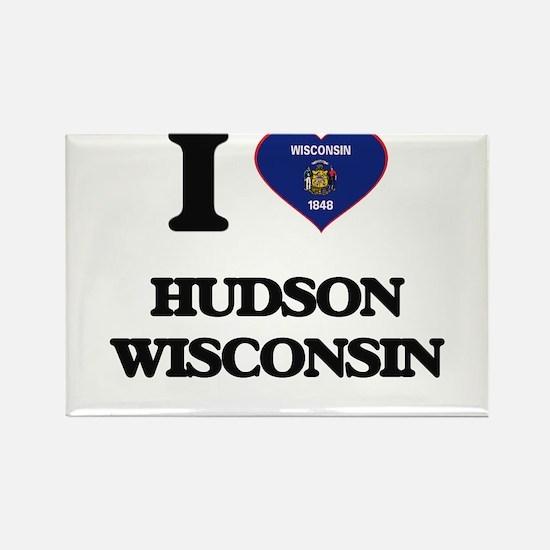I love Hudson Wisconsin Magnets