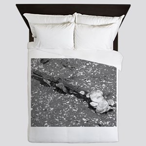 The simplicity of nature in black and Queen Duvet