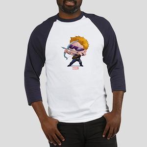 Chibi Hawkeye Stylized Baseball Jersey