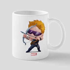 Chibi Hawkeye Stylized Mug