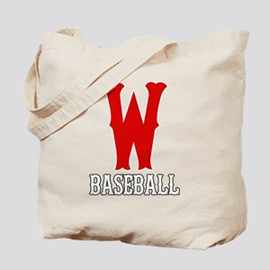 W Baseball Tote Bag