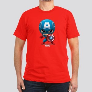 Chibi Captain America Men's Fitted T-Shirt (dark)